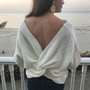 Sweaters - Twist back sweater